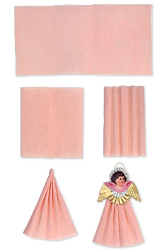 for the top quality crepe paper used to make these angels shop our crepe paper collection