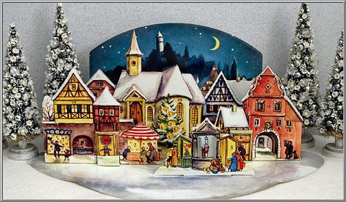 Christmas Shop: Moonlit Christmas Village of 1955 Advent Calendar ...