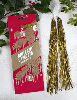 Christmas Shop: Metal Tinsel Icicles, Stanniol Lametta Christmas Tree Tinsel Icicles on Blumchen.com