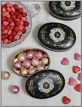 valentine shop victorian wreath tin candy tin d blumchen